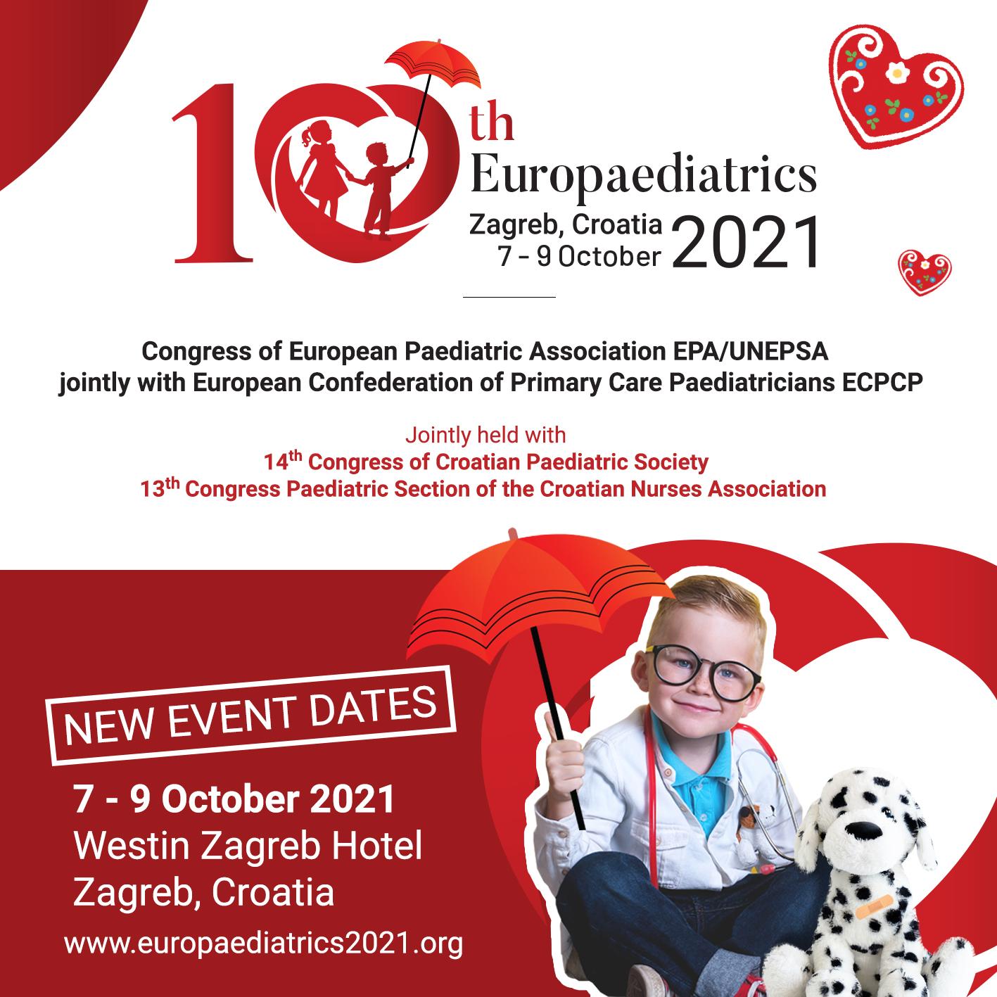 10th Europaediatrics | 7-9 October 2021| Zagreb, Croatia